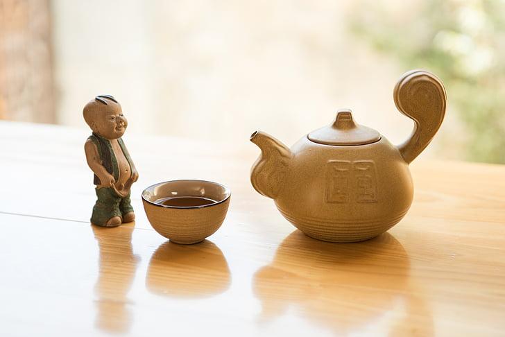 čaj, čajnik, lutka, slobodno vrijeme, čaj - toplo piće, hrana i piće, opuštanje