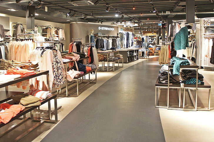 roba, botiga, pantalons texans, moda, pantalons