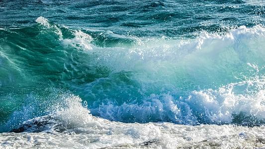 κύματα, αφρώδες υλικό, σπρέι, ενέργεια, βουτιά, δύναμη, κίνηση
