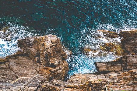 zee, Oceaan, water, golven, natuur, rotsen, kust