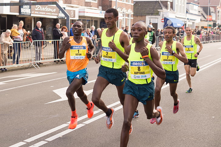 competència, exercici, Jogger, fúting, Marató, executar, corredor