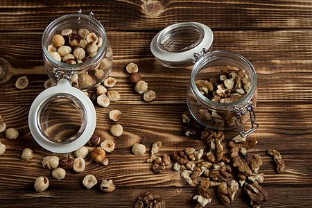 fruits secs, Filbert, Noguera, fons de fusta, salut i medicina, preparació, medicina alternativa