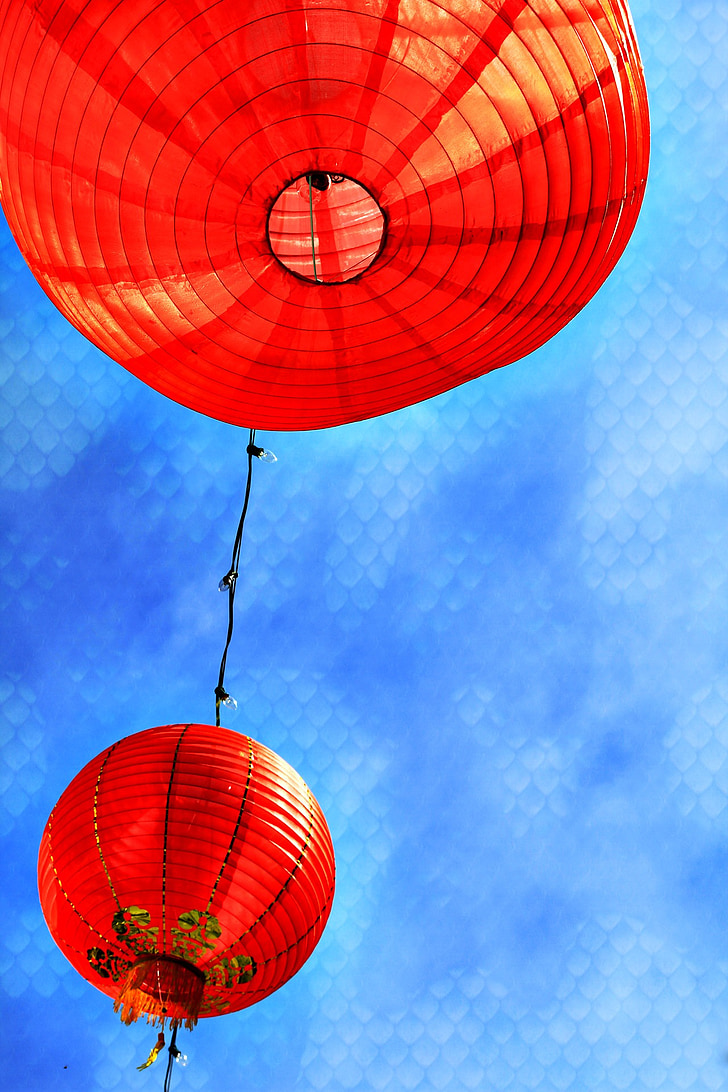 any nou xinès, fanalets xinesos, san francisco, Califòrnia, xinès, l'any, llanterna