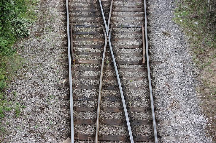 tog, spor, tog spor, veikryss, tog junction, linjer, jernbane spor