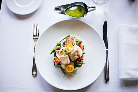 obrok, hrana, piletina, salata, zdrav, prehrana, ručak