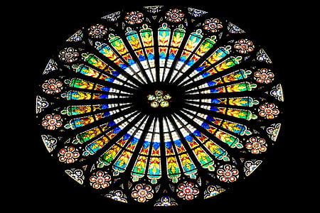 prozorsko staklo, Crkva, Crkveni prozor, prozor, vitraž prozora, Vitraj, staklo prozora