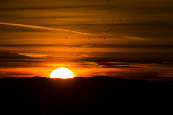 Wschód słońca, krajobraz, Natura, niebo, morgenstimmung, niebo, poranne słońce