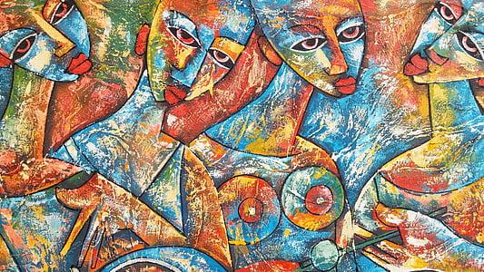 ศิลปะ, ภาพวาด, งานศิลปะ, ศิลปะ, ความคิดสร้างสรรค์, แบบเต็มเฟรม, พื้นหลัง