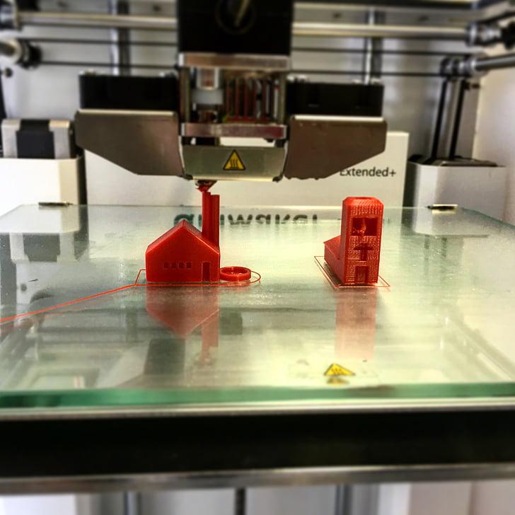 impressora, 3D, fent, pressió, 3D-impressió