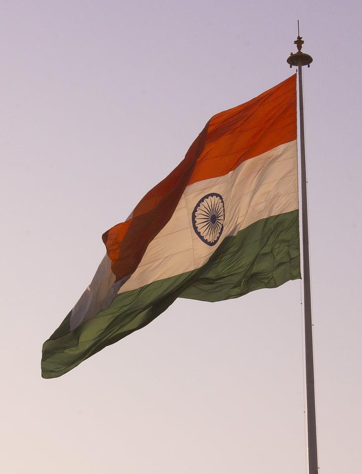 Indien, indiske flag, flag, Indien flag, nationale flag, land, Republik day