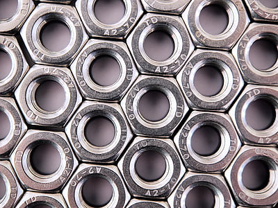 nuci, hex, hexagon, ataşaţi, închide, ambalate, hexagonale