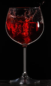 Splash, víno, nápoj, kvapalina, sklo, červená, poháre na víno