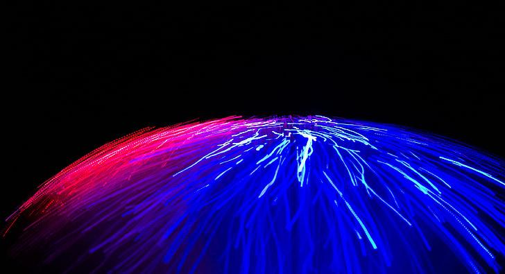 ljus, effekt, färg, blå, Rosa, lila, visuella