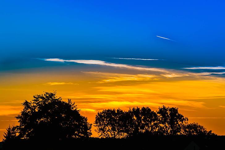 atmosfèrica, backlit, brillant, núvols, Alba, llum natural, capvespre