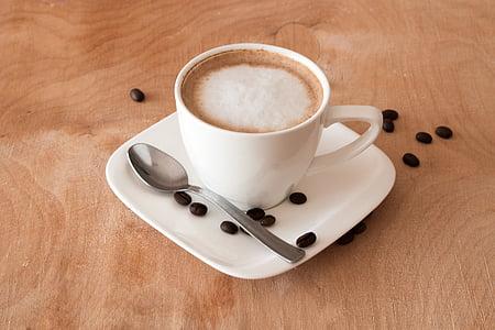koffie, theekopje, koffiebonen