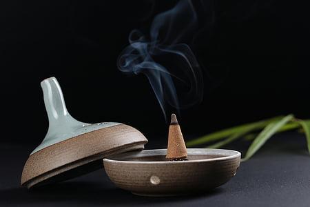 vīraka, tradicionālā, dūmi, Ķīna, Zen, Meditācija, garša