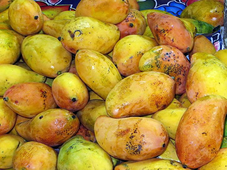 Mehika, mango, trg, sadje, eksotične, rumena, eksotično sadje