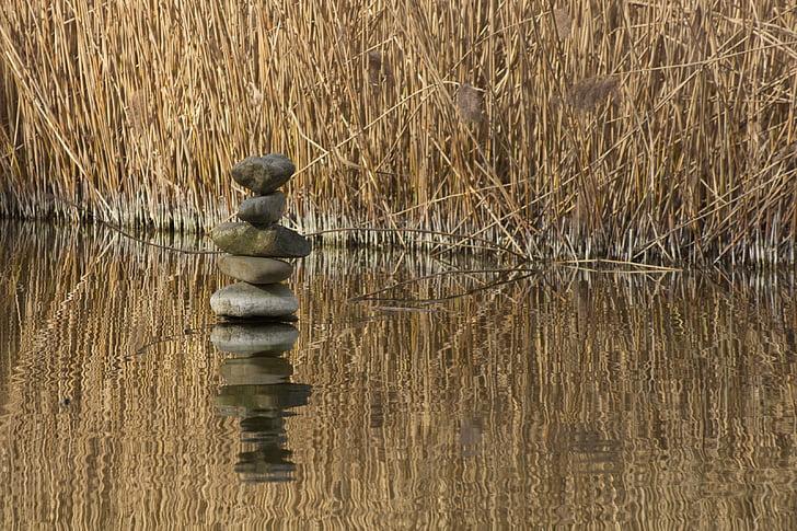 cân bằng, đá, cuộc sống, Làm đẹp, cảnh, cân bằng đá