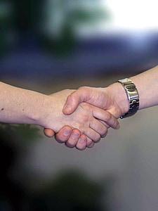 encaixada de mans, mans, Benvingut, comiat, sacsejada, mà humana, Unió