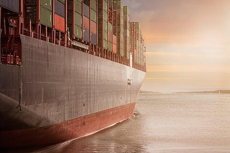 container, port, logistics, shipping company, shipping, ship, river