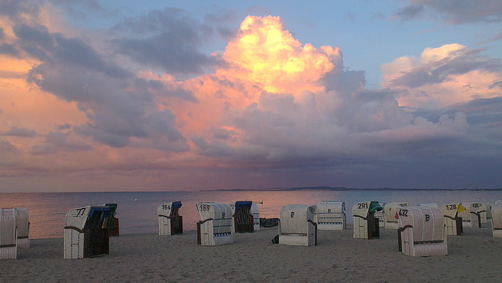 океан, море, небо, настрій, abendstimmung, води, Золотий