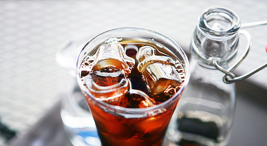te gelat, cafè holandès, glaçons de gel, begudes, alcohòliques, beguda, cafeteria