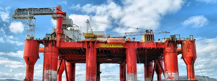 fúrótorony, olaj platform, olaj, rig, javítások, olajfúró, iparág