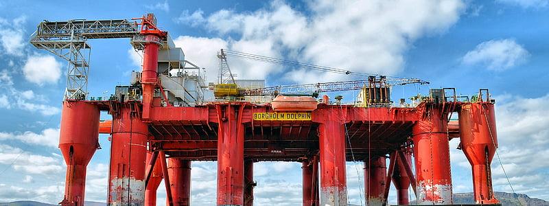 plataforma petroliera, plataforma petroliera, oli, plataforma, reparacions, petrolíferes, indústria