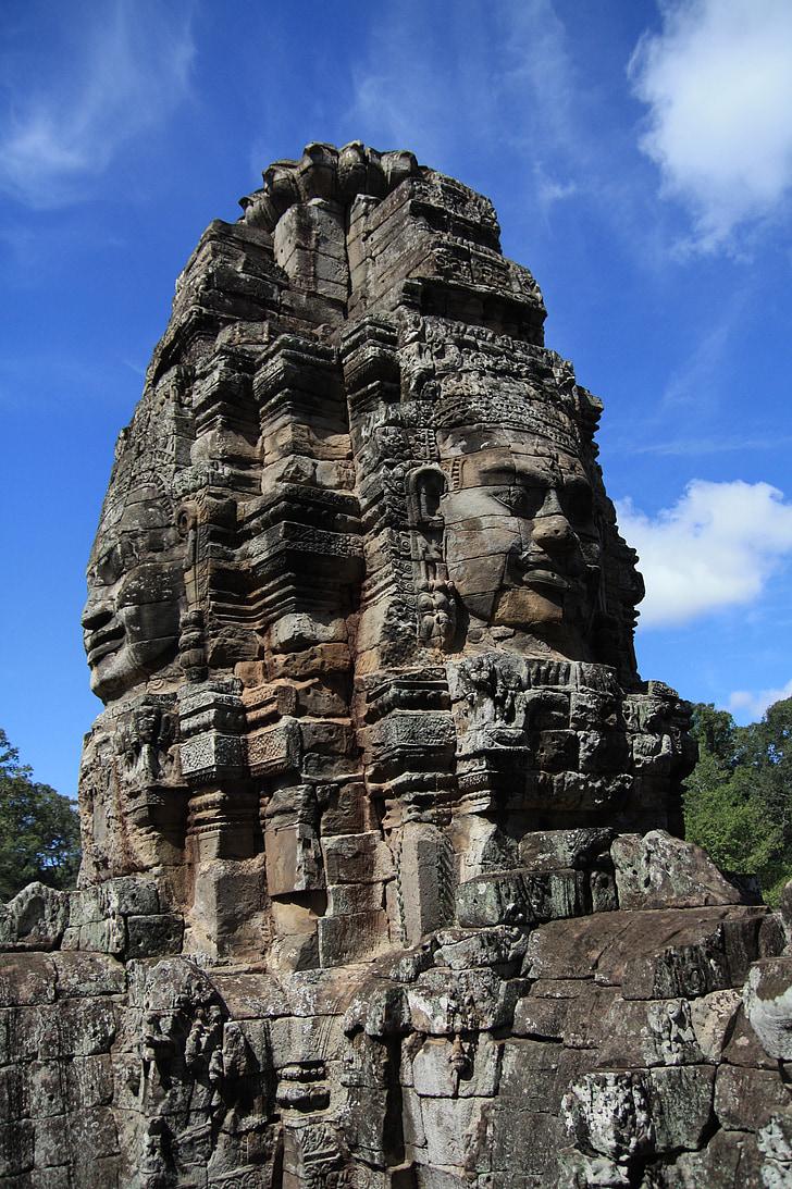 Kambodscha, Angkor wat, Ruine, Tempel, Festival, Himmel, Wald