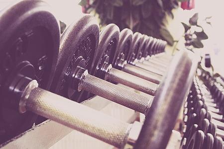 fitnesa, hanteles, apmācības, fitnesa studija, studija, svars, paaugstināt