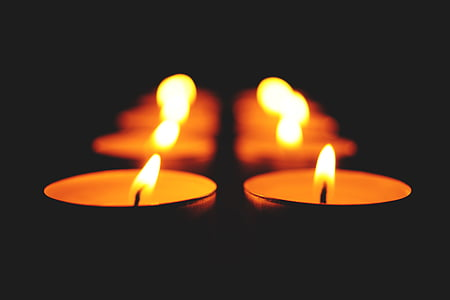 burning, candlelight, candles, close-up, dark, fire, flames