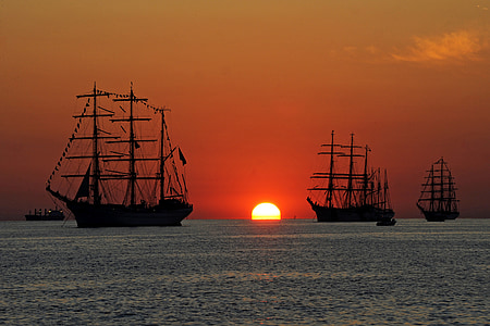 ships, tall, sailing, vessels, sea, nautical, ocean