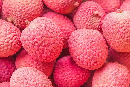 liči, voće, roza, hrana, voće, jesti, zdrav