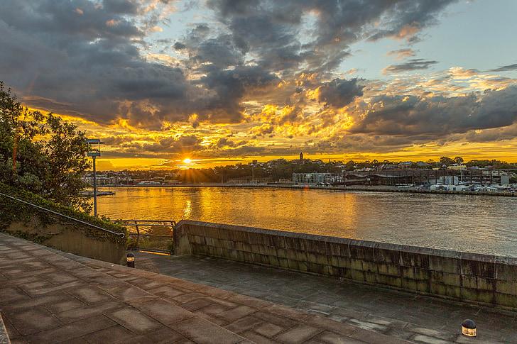 posta de sol, paisatge, natura, cel, sol, fons posta de sol, Alba