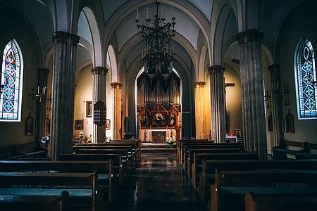 altar, arcs, arquitectura, edifici, Catedral, l'església, columnes