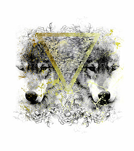 wolves, geometric, wild