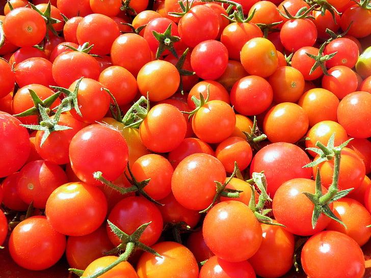 cà chua, cà chua anh đào, hữu cơ, rau quả, tươi, thực phẩm, Anh đào