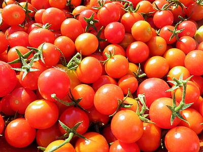 トマト, チェリー トマト, 有機, 野菜, 新鮮です, 食品, チェリー