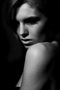 model de, femení, jove model, moda, bonica, Retrat, bellesa
