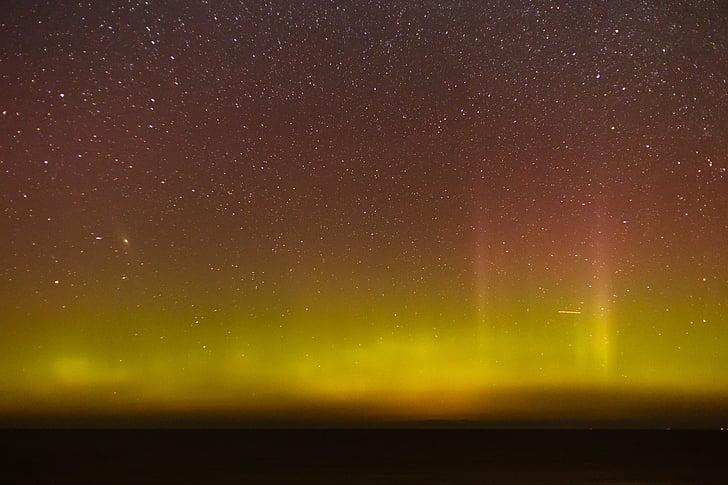 đèn phía bắc, Aurora, Đan Mạch, aurora borealis, đêm, sao, tiên nữ