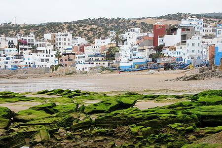 Maroko, Taghazout, Beach, Cestovanie, pobrežie, vody