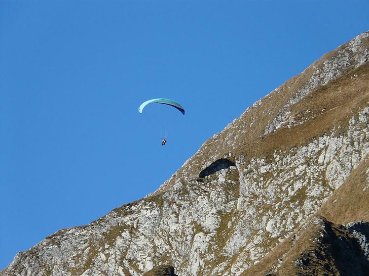 paraglider, paragliding, fly, screen, shadow, hispanic, sport