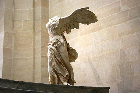 Samothrake, grekiska skulptur, marmor, Louvren, museet