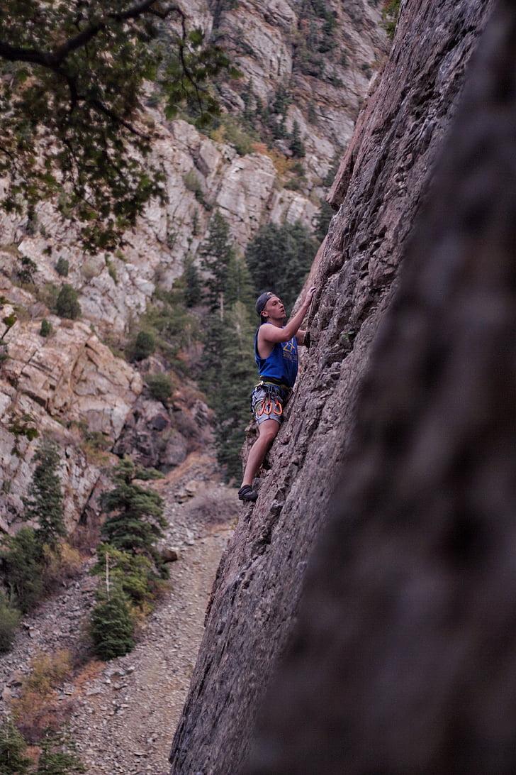 escalada, Utah, natura, determinat, aventura, a l'exterior, esport