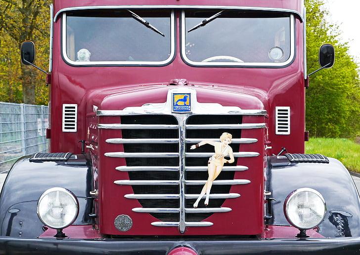 Büssing, camión, 1956, Oldtimer, restaurado, operacional, aprobado