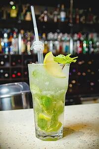 kokteil, Mojito, suvel, Baar, joogid, alkoholi kokteil, külm