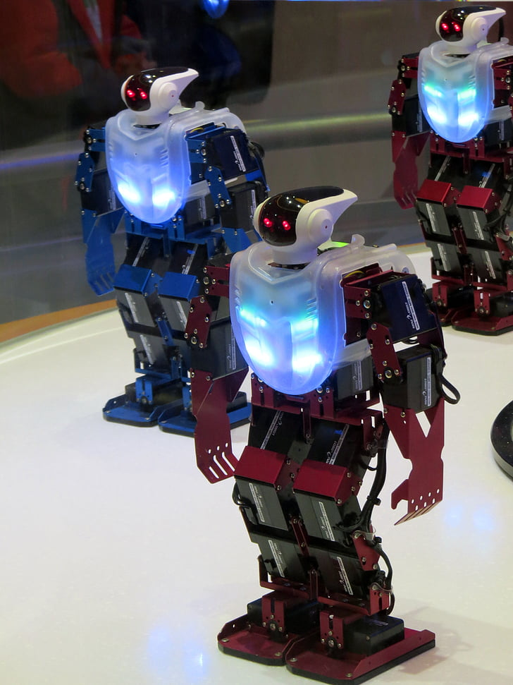 robot, robot dance, high-tech science, science, science and technology