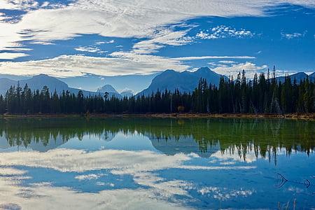 Llac, reflexió, desert, paisatge, serè, tranquil·la, medi ambient