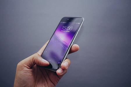 яблуко, сканер відбитків пальців, Рука, головний екран, HomeScreen, iPhone 6, блокування екрану