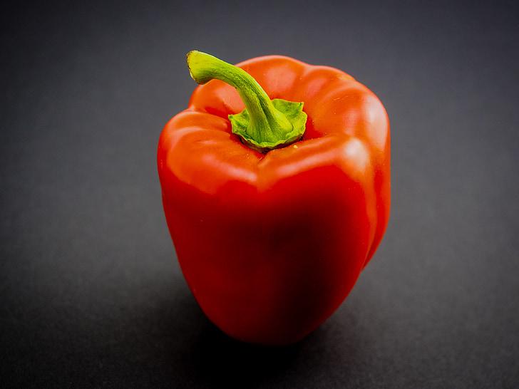röd paprika, paprika, grönsaker, röd, mat, friska, peppar